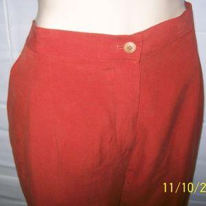 JONES NY SPORT Red Silk Pants NWT Sz 16 NEW